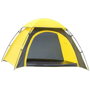 Half-Moon Style Door, 2 Person Lightweight Camping/Traveling Family Dome Tent with Carry Bag