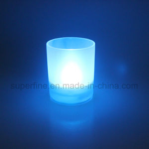 Electronic Holiday Home Decoration Glass Jar LED Realistic Flickering Safe Candle Light pictures & photos