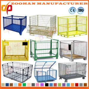 Industrial Stackable Folding Steel Supermarket Storage Wire Mesh Cage (Zhra30) pictures & photos