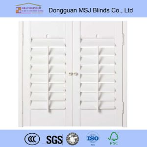 Wood Shutter for Sliding Glass Door Wood Shutter Wood Shutter Hangers pictures & photos