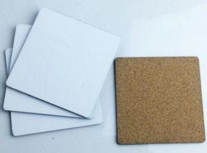 """3/"""" x 3/"""" Sublimation Blank 4 x Hardboard Coaster Set With Coasters Holder"""