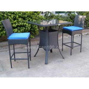 Outdoor Rattan Banquet Furniture Garden Bar Set (BF-1008) pictures & photos