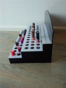3 Tier Acrylic Lipstick Display Shelf, Lipstick Display Rack, Cosmetic Display Stand pictures & photos