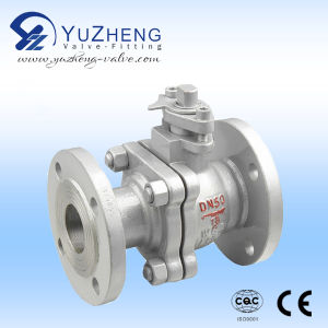Stainless Steel Pn16 Flange Ending of 2PC Ball Valve pictures & photos