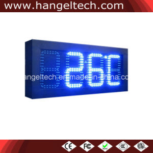 6 Inches Outdoor Waterproof LED Digit Wall Clock Display