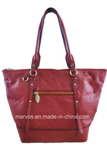 Classical Ladies′ Leather Handbag (M10548)