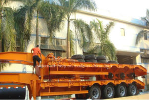 Excavator Low Bed Semi Trailer for Heavy Equipment