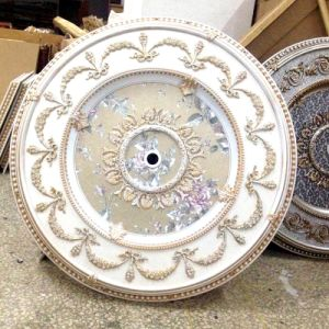 China PS Round Artistic Ceiling Medallion For Russian Home Decor Dl 1160 2
