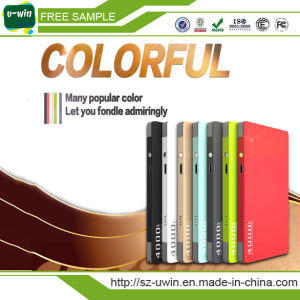 Colourful Dual Outport Micro Build in Cable 4000mAh/10000mAh Power Bank Portable Charger