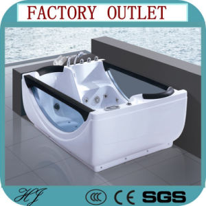 Glass Freestanding Hydro Massage Indoor Acrylic Whirlpool Massage Bathtub (506) pictures & photos