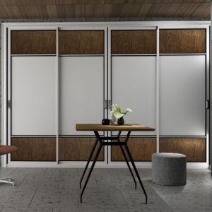 2017 Latest Bedroom Furniture Aluminium Sliding Doors Wardrobe
