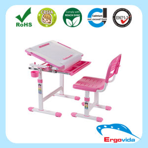 Ergonomic Metal and Plastic Kids Healthy Kid Study Desk and Chair Sets