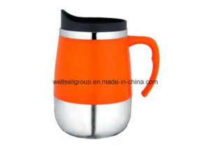 Stainless Steel Auto Mug with Handle & Cover (CPBZ-4047) pictures & photos