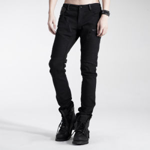Unique Punk Decadent Black Wild Long Rock Mens Pants (K-154)