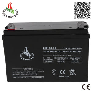 12A 100ah Rechargeable VRLA Lead-Acid Battery for Solar