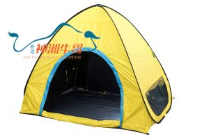 PE Nylon With Black Coated Family Outdoor Hiking Camping Tent