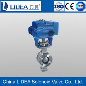 Low Price V Type Electric Floating Ball Valve with Factory Price
