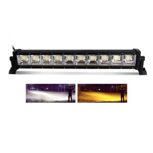 "Waterproof IP68 Dual Color Amber Aurora 22"" Strobe Slim 4X4 Car LED Light Bar"