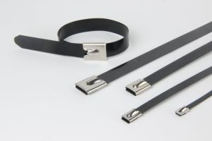 Polyester Coated Ball Lock Stainless Steel Cable Tie pictures & photos