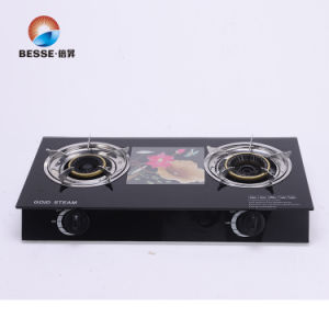 Tempered Glass Triple Burner Gas Stove pictures & photos