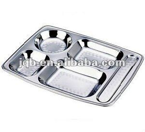 FDA Ce Certification Stainless Steel Mess Snack Food Tray