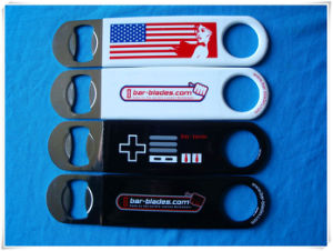 Promotional Stainless Steel Bottle Opener with PVC Sleeve pictures & photos