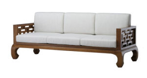 Modern Wooden Sofa Set Designs in Wood Finish for Hotel Meeting Room