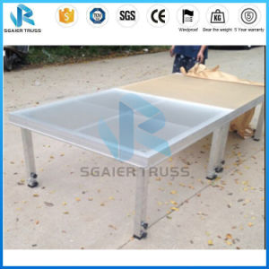 18mm Plexiglass Sheets Band Stage Dance Floor Design Frosted Stage From Sgaier Stage pictures & photos