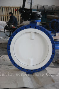Full PTFE Coated U Section Butterfly Valve with Ce ISO Wras Approved (CBF04-TU01)
