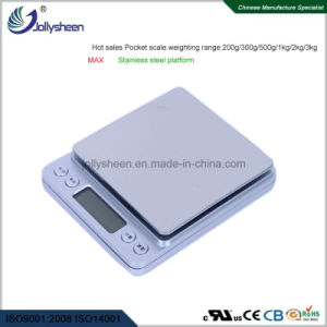 Best Hot Sales Digital Pocket Scale Baking Scale With Stainless Steel Pan And High Presicion Sensors As Nice Package Weighing Range 200 To 3kg For Ce