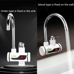 Electric Kitchen Water Heater Tap Instant Hot Faucet Cold Heating Tankless Instantaneous