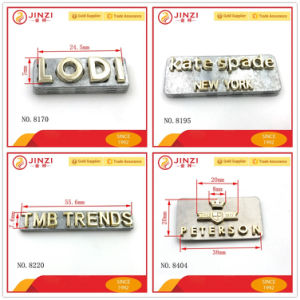 custom small metal letters for bags quality metal logos