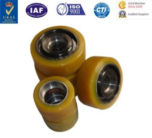 Factory Wholesale PU Rubber Caster Wheels Trolly Wheels pictures & photos