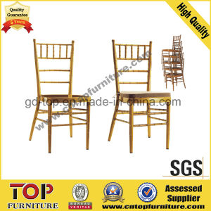 Stacking Metal Hotel Restaurant Banquet Wedding Chiavari Chair pictures & photos