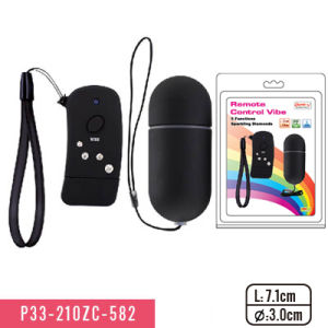 Remote Control Bullet with 5 Function and Sparking Diamond Massager pictures & photos