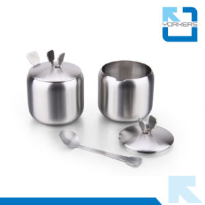 4 Pieces 201 Stainless Steel Rotating Sugar Salt Pepper Condiment Spice Jar pictures & photos