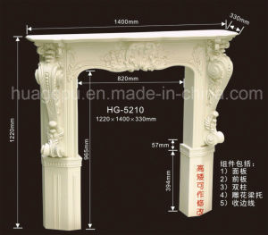 Polyurethane PU Foam Fireplace Moulding for Indoor Decoration