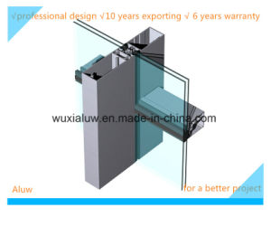 Energy Saving and Envrimental Protection Semi-Invisble Curtain Wall
