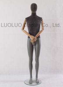 High Grade Linen Wrapped Male Mannequin with Wooden Arms 4500