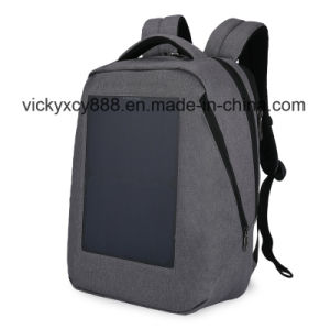 Double Shoulder Solar Energy Voltaic Generator Leisure Travel Backpack Bag pictures & photos