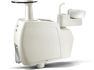 Leather LED Dental Chair Unit Floor Type (KJ-916) pictures & photos