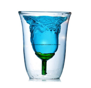 High Borosilicate Double Wall Glass Cup (B-DBW16) pictures & photos