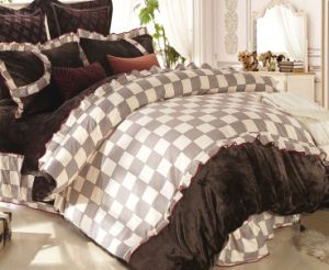 Microfiber Bedding Set Made of or Resembling Lace