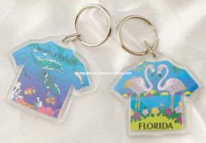 T-Shirt Shaped Acrylic Keyring, Promotional Keychain pictures & photos