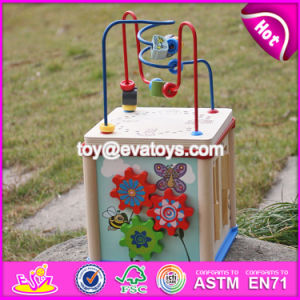 New Design Children Educational Mini Wooden Activity Cube for Toddlers W11b132 pictures & photos