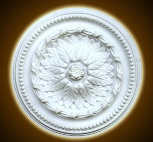 White PU Decorative Ceiling Medallions for Interior Design pictures & photos