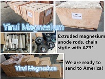 Magnesium Anode Rod Extruded Magnesium Anode Rod for Water Heater