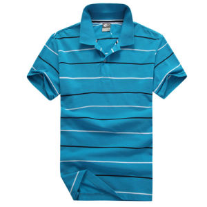 Custom New Design Men Striped Polo Shirt Wholesale pictures & photos