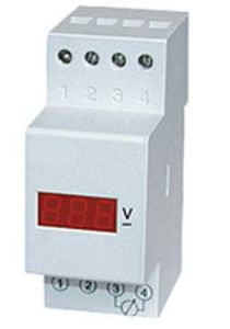 DIN Rail Digital Voltmeter