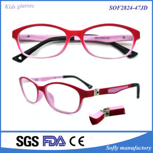 Children′s Full-Rim Rectangle Lens Plain Optical Eyeglasses Frame Without Degree pictures & photos